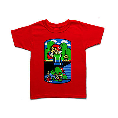 Help a Brother Out - Super Mario & Raphael from TMNT Kids T-shirt
