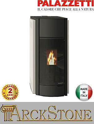 Pellet Stove Airy Hermetic Palazzetti Ecofire Julie 12 Power 12 Kw White