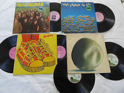Bundle of 4 Island sampler LP's Nice Enough, Bumpers, El Pea, You Can All, VG