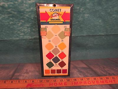 Comet Enamel paint sign advertising quick dry tin display