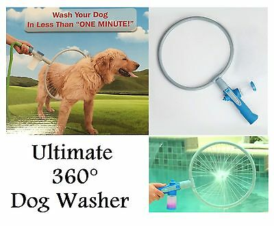 Ultimate 360° DOG WASHER Bath Shower Woof Washer Kit Pet Puppy Cleaning Ring