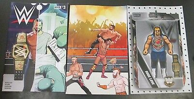 3x WWE 3; ACTION FIGURE UNLOCK ROYAL RUMBLE CONNECTING VARIANT Boom Studios HOT