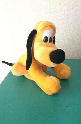 Vintage Disney World Land Parks Pluto Dog Puppy Plush Stuffed Animal