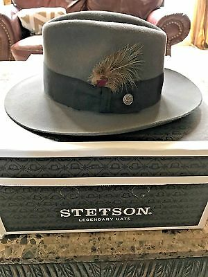 "Stetson Excellent Quality ""pinnacle"" Caribou Gray Size 7 1/8 (Blemished) Smooth!"