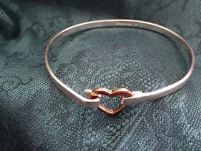 Vintage Tiffany Bangle .925 Silver with Heart Clasp