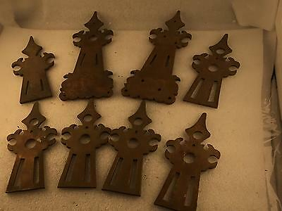 Mixed lot Of 8pcs. Hollywood prop door Handle Backing Plates.      3-393
