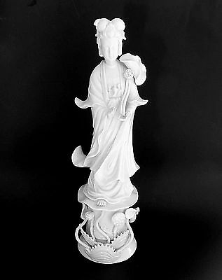 Porcelain Statue of Kuan Yin, Chinese Goddess of Mercy and Compassion