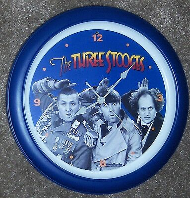 Three Stooges Talking Wall Clock EXCELLENT CONDITION