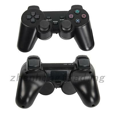 2x Black Wireless Shock Game Controller for Sony PS2