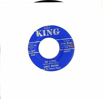 James Brown vinyl record  7inch 45rpm (So Long) - Funk / Northern Soul