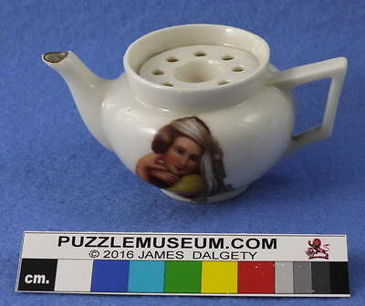 Gemma Crested Porcelain Teapot  with Girl Transfer Patent 2006 Puzzle
