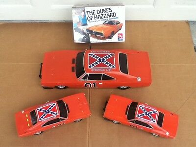 Dukes of Hazzard General Lee RC 1/10 1/18 Lights/Sounds 1/25 Model Kit Cars Lot