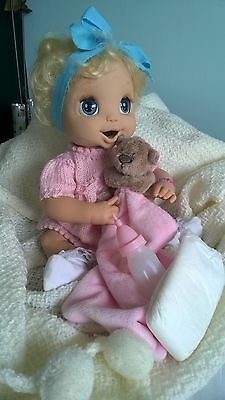 Baby Alive Doll, eating & drinking rubber face moving talking