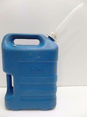 Igloo 3 Gallon Water Carrier Can 2-Handles Blue Plastic Spout Stopper Cap Vtg