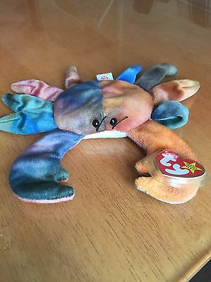 Claude The Crab Ty Beanie Baby MINT WITH TAGS! Retired/ Extremely Rare