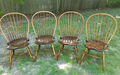 Set of 4 Gorgeous D.R. Dimes Bowback Windsor Chairs Handcrafted in N.H. *LOOK*!!