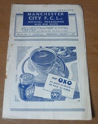 Manchester City v Fulham, 1946/47 - Division Two Match Programme.