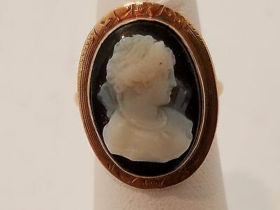 Antique Victorian 10k gold cameo ring