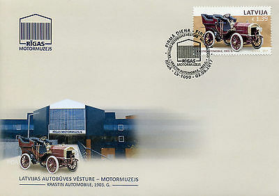 Latvia 2017 FDC Motor Museum History of Automobiles Krastin 1v Cover Cars Stamps