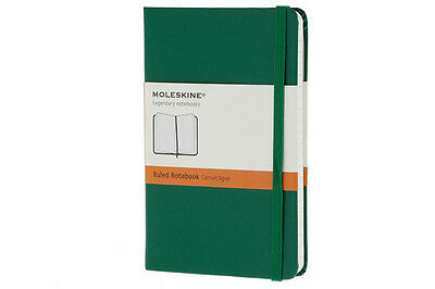 Moleskine Classic Notebook, Pocket, Ruled, Oxide Green, Hard Cover (3.5 X 5.5)