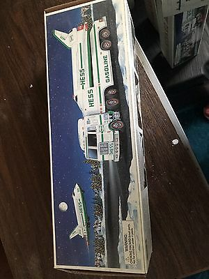 1999 Hess Toy Truck and Space Shuttle with Satellite In Box