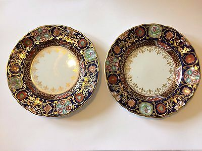 Ashworth Ironstone China plates, one large, two small, floral designs