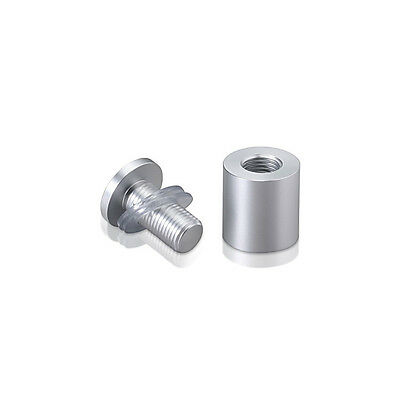 "NEW MBS AL19-25A Aluminum Standoffs 3/4 "" Diameter Threaded Clear Anodized"