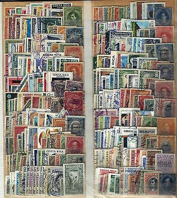 Costa Rica 300 Different Used Stamp Collection Lot#66