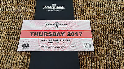 Goodwood Festival Of Speed 2017 Thursday Ticket Adult General Admission x1