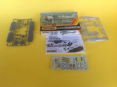 Matchbox Gloster Gladiator Aircraft Model Kit MK1 1:72 scale Good Condition