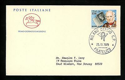 Postal History Italy FDC #1386 Rowland Hill stamp on stamp penny black 1979