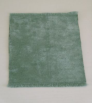 Brand New Rug With A Velvet Pile For A Dolls House (Turquoise)