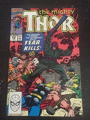 Mighty Thor#418 Incredible Condition 9.0 Frenz Art,Hercules,Wrecking Crew(1990)