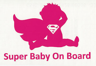 Aufkleber Baby on board Super Baby