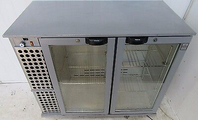 Osborne Double Glass Door Undercounter Bottle Display Drinks Bar Chiller