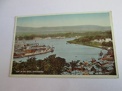 Postcard of View on the Foyle, Londonderry 22664 (Posted Valentine's)