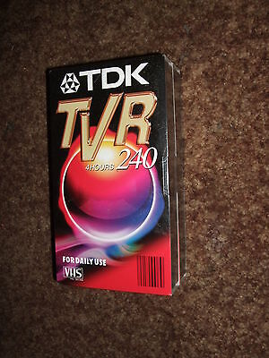 TDK Tvr 240 Blank VHS Video Tape 2 pack 4 Hours New Sealed