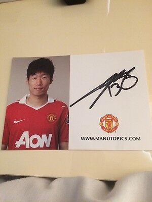 Signed Ji Sung Park Club Card Manchester United