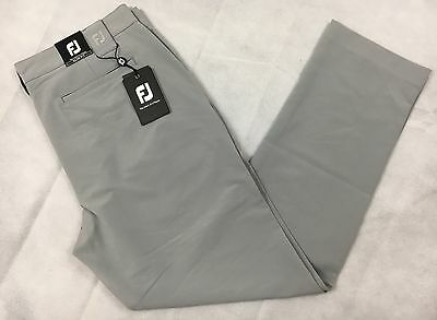 Footjoy Performance Slim Fit Golf Trousers W36 L31 Regular Leg Light Grey RRP£70