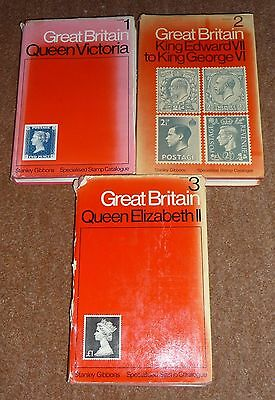 GB Stanley Gibbons Specialised Stamp Catalogues Vol 1,2 &3