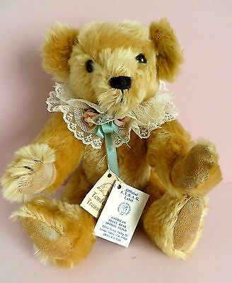 "Mohair Jointed ""Golda"" teddy bear tagged ""American Teddy Bear Artists Guild"" #28"