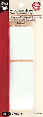 """Perfect Waist Maker Fusible Interfacing 1 1/4""""X3yd White 210D"""