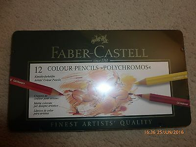Faber Castell Polychromos Artists Quality Colour Pencils - 12 Set - Bnib
