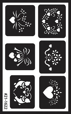 "Over 'N' Over Reusable Stencils 5""X8"" Assorted GE21-1622"