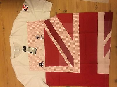 Adidas Team GB London 2012 Official Male Tee W55408 Chest Size 46/48