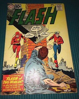 Flash #123 5.0 VG/FN DC 1961 Re-intro Golden Age Flash Lovely Glossy Copy Photos