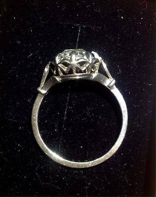 Old Witches Faith Ring Platinum & Rock Crystal Herkimer Diamond size US 7.5 UKP