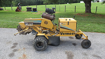 2005 Vermeer Sc252 Stump Grinder 27Hp Kohler Gas Electric Start Self Propelled