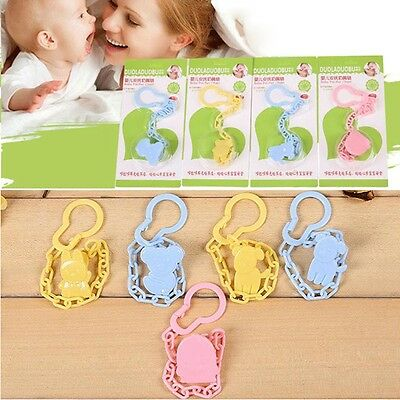 Newly Baby Pacifier Chain Solid Color Anti-Lost Dummy Nipple Clip Soother Holder