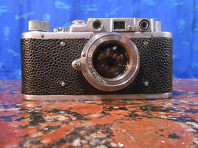 Very Rare FED S NKVD Nunber 112XXX Con FED 50mm f2 M39 Leica Copy PreWar 1938